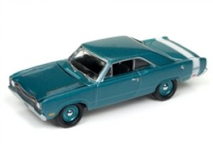 1969 Dodge Dart (Light Turquoise Poly with White Stripes at diecastdepot