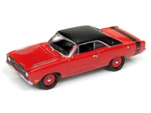 1969 Dodge Dart (Bright Red with Flat Black Roof and Stripes) at diecastdepot