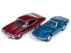 1968 Chevy Corvette Convertible & 1968 Oldsmobile 442-Johnny Lightning Class of 1968 2-Pack at diecastdepot