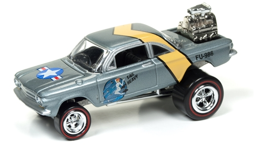1962 Chevrolet Corvair (Zinger) (Silver Blue Metallic) at diecastdepot