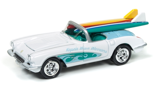 1958 Chevrolet Corvette (Surf Rods) (Gloss White) at diecastdepot