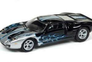 2005 FORD GT- BLACK WITH FLAMES at diecastdepot