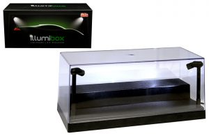 "Showcase Illumibox 10"" LED Acrylic Display Case at diecastdepot"