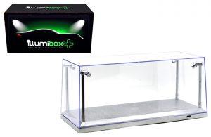 1:18 Scale Acrylic Display Case Illumibox LED Silver Base at diecastdepot