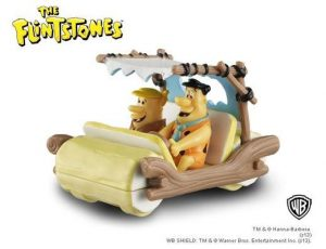 THE FLINTSTONES CAR WITH NON-REMOVABLE FRED AND BARNEY FIGURES