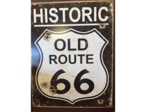 OLD ROUTE 66- WEATHERED