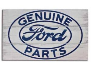 FORD GENUINE PARTS - WOOD SIGN