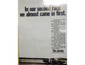 1968 Javelin - Original Ad Poster