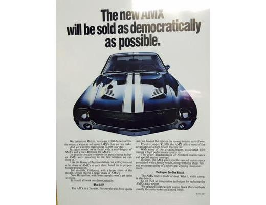1969 AMX - Original Ad Poster