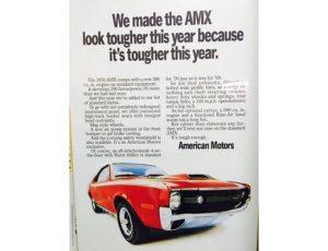1970 AMX - Original Ad Poster