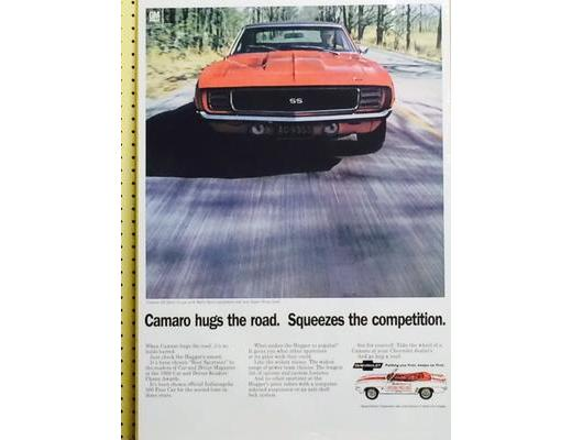 1969 Chevy Camaro RS/SS- Original Ad Poster