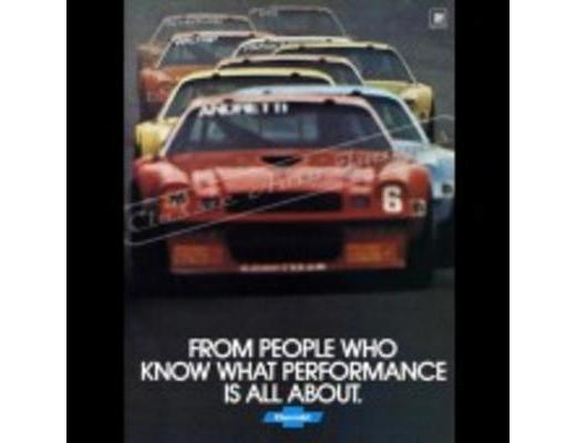 1979 Chevy Camaro Z/28 - Original Ad Poster