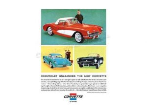 1961 Chevy Corvette - Original Ad Poster