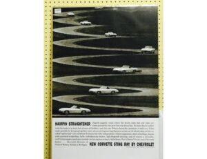 1963 Chevy Corvette - Original Ad Poster