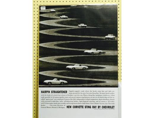 1963 Chevy Corvette - Original Ad Poster