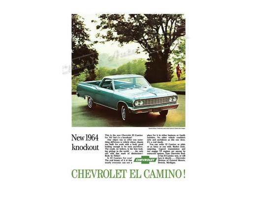 1964 Chevy El Camino - Original Ad Poster