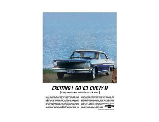 1963 Chevy ll Nova - Original Ad Poster