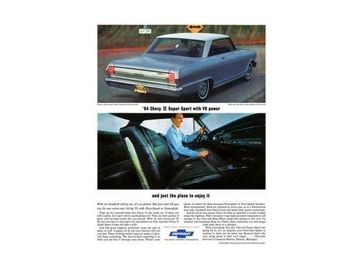 1964 Chevy ll Nova - Original Ad Poster