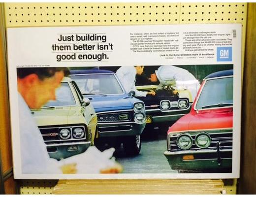 1967 GM Line-up Original Ad Poster