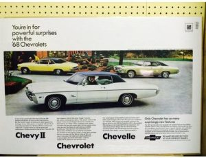 1968 Chevy Line-Up Original Ad Poster
