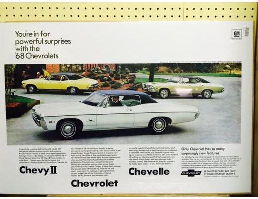 1968 Chevy Line-Up Original Ad Poster