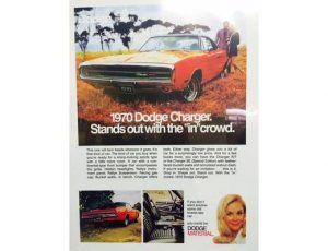 1970 Dodge Charger - Original Ad Poster