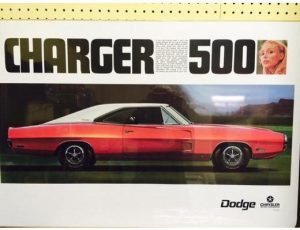 1970 Dodge Charger 500 - Original Ad Poster