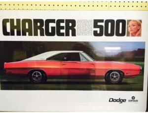 1970 Dodge Charger 500 - Original Ad Poster