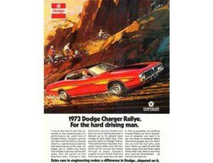 1973 Dodge Charger Rallye - Original Ad Poster