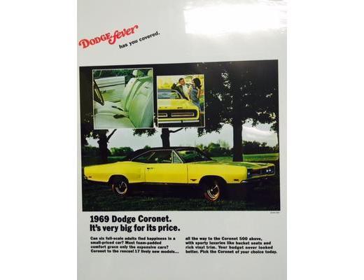 1969 Dodge Coronet 500 - Original Ad Poster