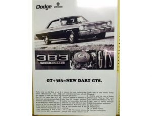 1967 DODGE DART 383 GTS POSTER