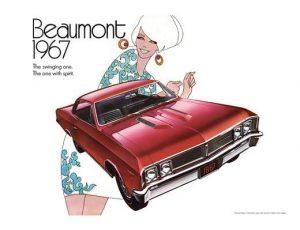 1967 PONTIAC BEAUMONT POSTER