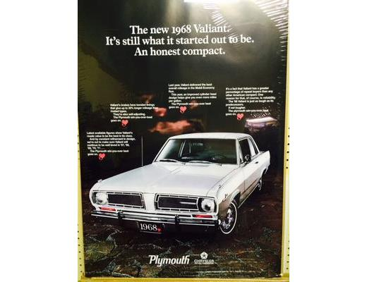 1968 PLYMOUTH VALIANT POSTER
