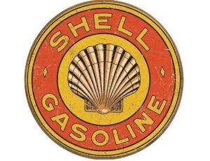 Shell Gasoline 1920's Round