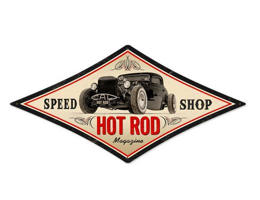 SPEED SHOP HOT ROD - METAL SIGN