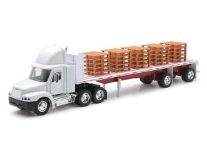Freightliner Century Class Flatbed with Pallets