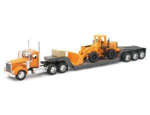 Kenworth W900 Lowboy W/ Construction Tractor
