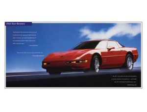1991 CHEVROLET CORVETTE ZR-1 ORIGINAL AD POSTER