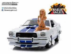 "1976 Cobra II - White/Blue ""Charlie's Angels"" TV car WITH Figure"