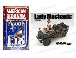 LADY MECHANIC - LUCY FIGURINE