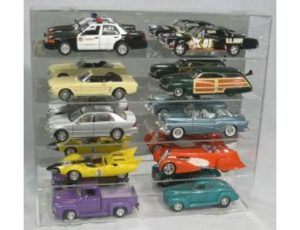 DISPLAY CASE FOR 10 - 1:18 SCALE DIE CAST - WITH NO COMPARTMENT