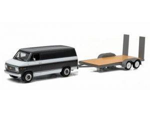 1977 Chevrolet G-20 Van with Flatbed Trailer