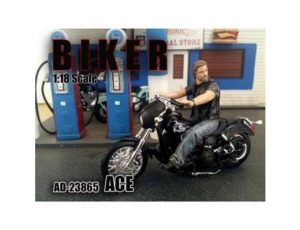 ACE - 1:18 SCALE BIKER (FIGURINE ONLY-MOTORCYCLE SOLD SEPERATELY)