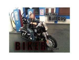BULL DOG BIKER FIGURINE (1:18 SCALE)