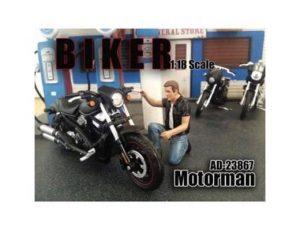 MOTORMAN - BIKER FIGURINE - 1:18 SCALE