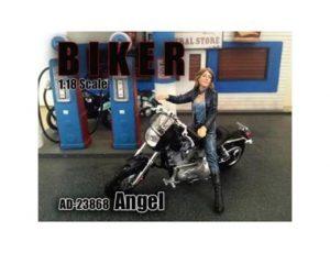 ANGEL BIKER FIGURINE IN 1:18 SCALE