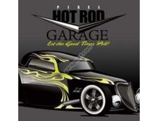 HOT ROD GARAGE METALSIGN
