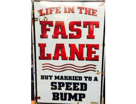 LIFE IN THE FAST LANE METAL SIGN