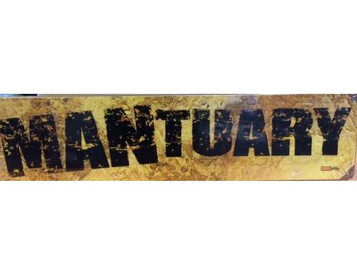 MANTUARY METAL SIGN