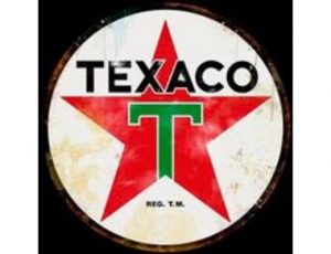 TEXACO ROUND METAL SIGN